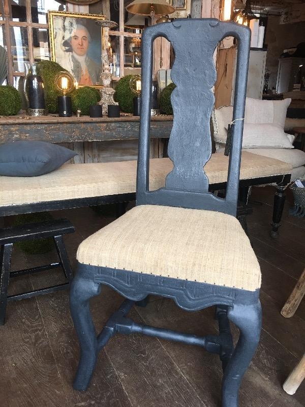 paire de chaises sudoises noires xixme - Chaises Suedoises